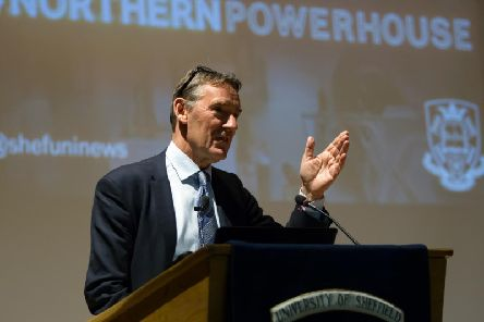 Lord Jim O'Neill gives a speech on the Northern Powerhouse at Sheffield University.