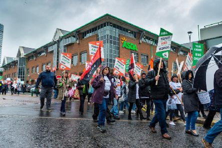 Asda head office targeted by demonstrations.