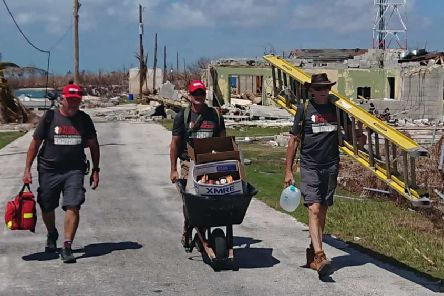 Members of Team Rubicon in the Bahamas.