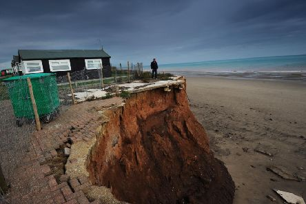 Coastal erosion was not only threatening chalets, but homes, infrastructure and a main road Pictures Simon Hulme