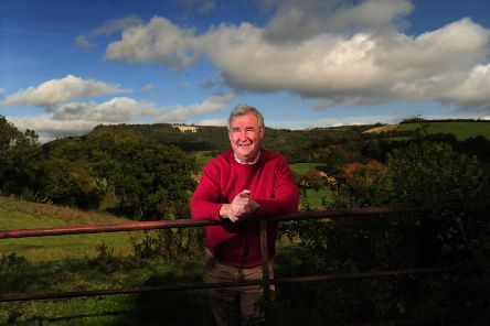 The Yorkshire Vet Peter Wright, pictured near his  home at Osgoodby, Thirsk.Picture by Simon Hulme
