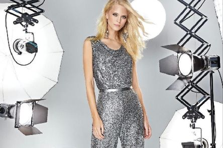 Sequinned cowl neck jumpsuit, �349.95 at Helen Sykes Fashions in Leeds.