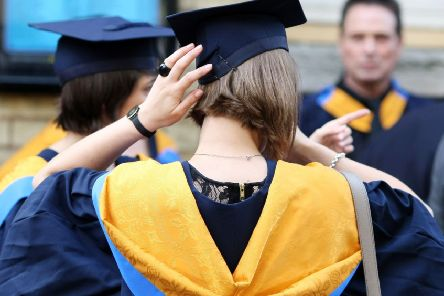 File photo dated 12/10/11 of university graduates. Half of graduates believe leaving the EU will make it more difficult to find jobs, research suggests.