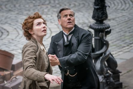 Eleanor Tomlinson and Rupert Graves in The War of the Worlds. ''Picture: Ben Blackall/ Mammoth Screen 2018