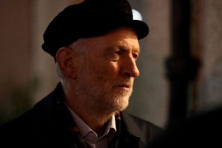 Labour leader Jeremy Corbyn on the campaign trail in the Govan area of Glasgow - but will his Brexit policy win over voters?