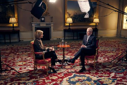 Emily Maitlis and Prince Andrew. Credit: BBC.