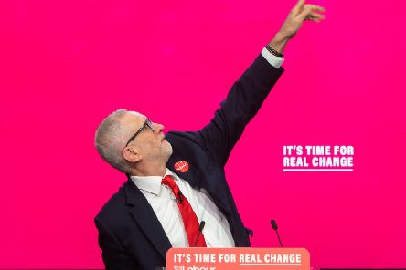 Labour leader Jeremy Corbyn during the launch of his party's 2019 general election manifesto.