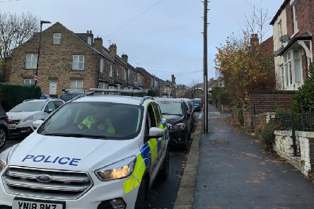 The scene of the fire in Crookes, Sheffield