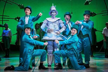 Sam Harrison (Tin Man) in The Wizard of Oz at Leeds Playhouse. Photography by The Other Richard