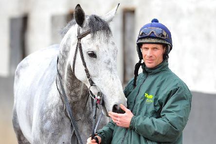 Danny Cook with Vintage Clouds who will not now line up in next year's Randox Health Grand National.