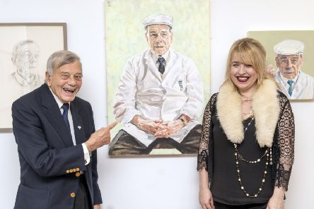 'Portraits of Dickie Bird' by Lorna May Wadsworth at the Cooper Gallery in Barnsley.