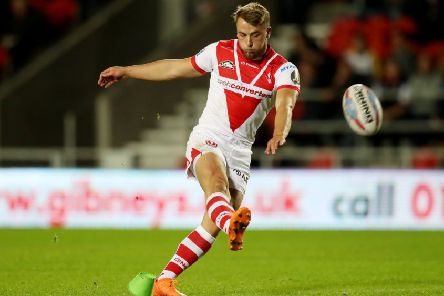 Danny Richardson: In action for St Helens against new club Castleford Tigers.