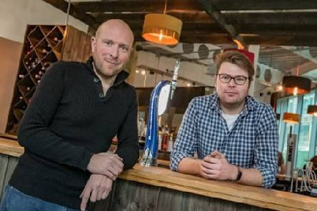 Brothers Geoff and Nick Thornton, owners of Hoist House, which has opened at Wellington Place in Leeds.
