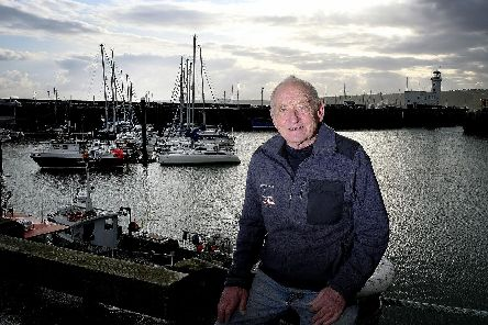 Colin Jenkinson at Whitby Harbour. Picture by Richard Ponter