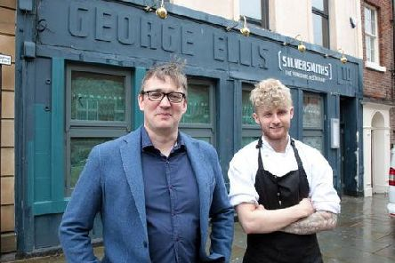 General manager Paul Handley and chef Ashley Bagshaw outside Silversmiths
