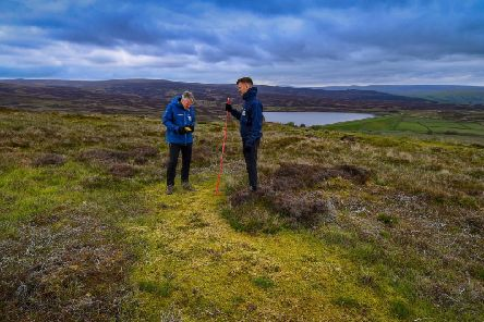 Yorkshire Wildlife Trust is tackling the preservation of our wetlands and peatlands. Pictured Tim Thom, Peat Programme Manager for the Yorkshire Wildlife Trust, with Matthew Snelling, Peatland Restoration Officer for the Yorkshire Wildlife Trust on moorland above Skipton.