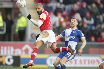 On target: Kyle Vassell heads home Rotherham's opener. Picture: Dean Atkins
