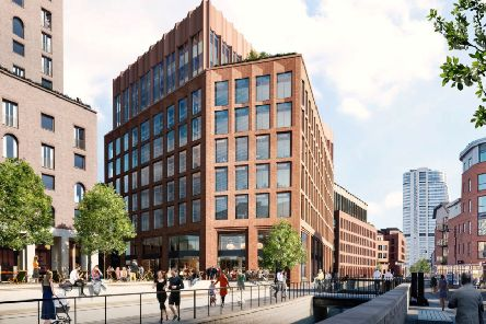 The forthcoming Temple district in Leeds will include new office buildings like Globe Square.