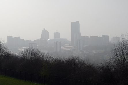 Smog over Leeds, which was named as the one of the worst cities the rate of deaths connected to long-term exposure to air pollution. Picture: Glen Minikin/Ross Parry