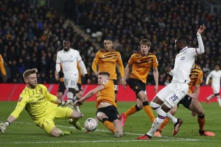 George Long makes a save during Hull's FA Cup tie with Chelsea (Picture: SportImage)