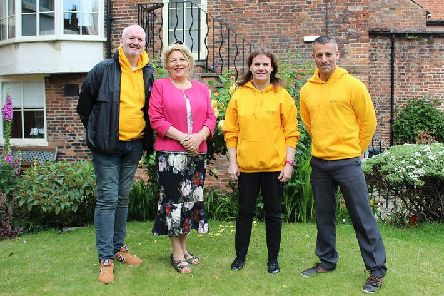York's current Invisible Cities guides. From L-R: Miles Goring, Vicki MacPhail, Gemma Dean and Gavin Sullivan.