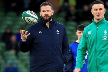 Ireland's head coach Andy Farrell, left. Picture: Donall Farmer/PA