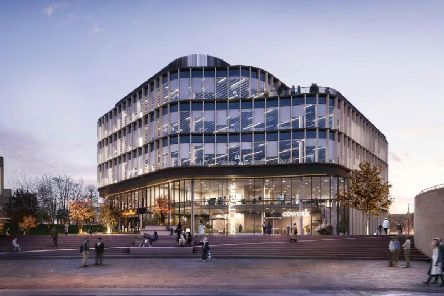 CGI of Muses new office development at the award-winning City Park in Bradford