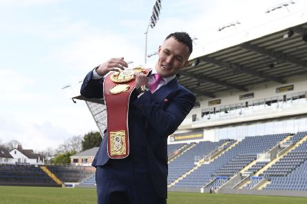 Josh Warrington at Emerald Headingley. Picture: by George Wood/Getty Images.