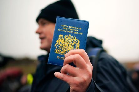 Blue passports will be issued from next month. Credit: Getty