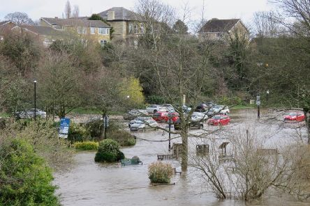 Flooding at the Wilderness car park in Wetherby. Photos taken by Alan Ashbee.