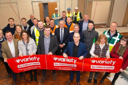 The companies that contributed to Variety Yorkshires Big Build project at Green Meadows