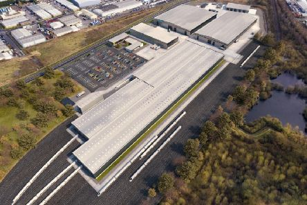 Artist's impression of the Siemens Mobility factory at Goole