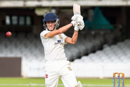 """Will Hutchinson batting for Folkton & Flixton in the National Village Cup final at Lord's. His 48 would help pave the way to victory for the Scarborough side. """"Picture: Will Palmer)"""