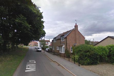 Firefighters were called to Mill Lane, in the village of Brandesburton, near Hornsea, at about 4.50am today (Thursday). Picture: Google.