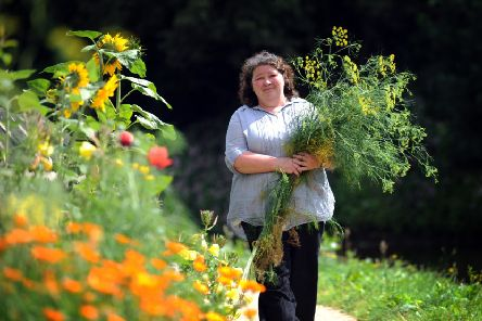 Mary Clear from Incredible Edible, Todmorden. Picture by Simon Hulme