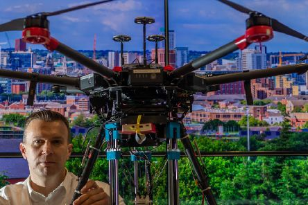 Professor Rob Richardson is part of a Leeds team working on the drones project. Picture: James Hardisty