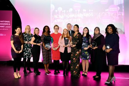 Winners of the Forward Ladies Awards at the Royal Armouries in Leeds.  The group is highlighting the significant role played by women in business. Picture Jonathan Gawthorpe 7th December 2018.