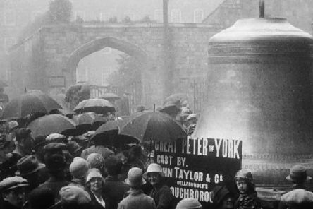 The 'Great Peter' bell in York, in 1927. PIC: Yorkshire Film Archive