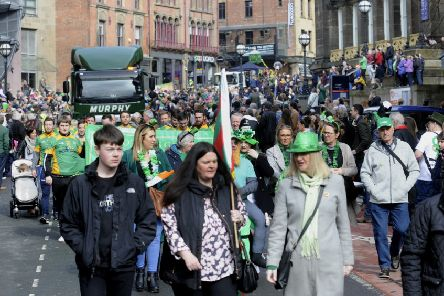 The March 2018 St Patricks Day Parade, Leeds. Picture by Simon Hulme