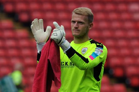 Barnsley goalkeeper Adam Davies hopes to captain the side to promotion back to the Championship from League One (Picture: Jonathan Gawthorpe).