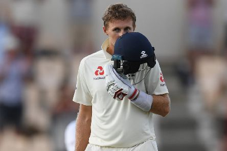 England captain Joe Root celebrates reaching his 100 during Day Three of the Third Test match between the West Indies and England at Darren Sammy Cricket Ground on February 11 in Gros Islet, Saint Lucia. (Picture: Shaun Botterill/Getty Images)