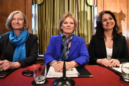 Sarah Wollaston, Anna Soubry and Heidi Allen held a press conference in Westminster after leaving the Tory party.