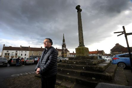 Rev Tim Robinson in Helmsley Market. Picture by Simon Hulme
