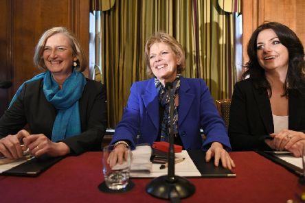Sarah Wollaston, Anna Soubry and Heidi Allen after resigning as Tory MPs.