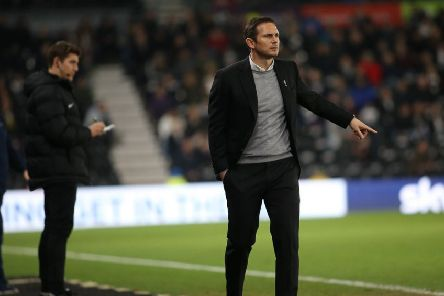 What's going on?: Frank Lampard sees his Derby County head to defeat.