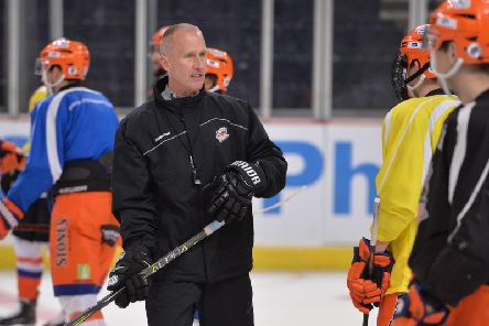 WORK TO BE DONE: Tom Barrasso has changed practice plans to get his Sheffield Steelers back out on to the ice on Thursday after Wednesday's 6-1 defeat at home to Glasgow Clan. Picture: Dean Woolley.