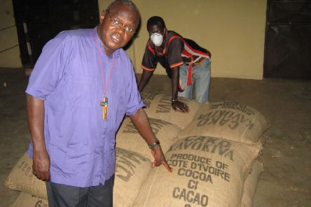 The Archbishop of york during a visit to cocoa farms in C�te d'Ivoire.