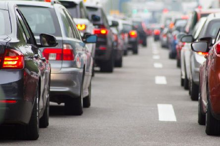 Traffic could build up as a result of the protests