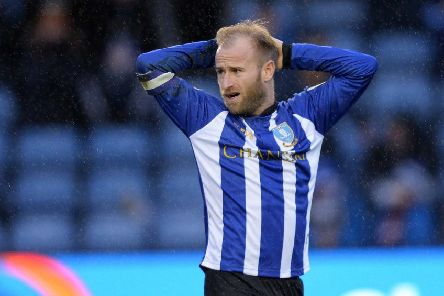 A frustrated Sheffield Wednesday skipper Barry Bannan at the final whistle of the draw with Reading in February (Picture: Steve Ellis)