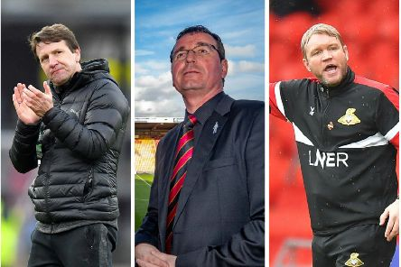 LEAGUE ONE LIFE: Daniel Stendel, Gary Bowyer and Grant McCann all have plenty to fight for towards the end of the season.